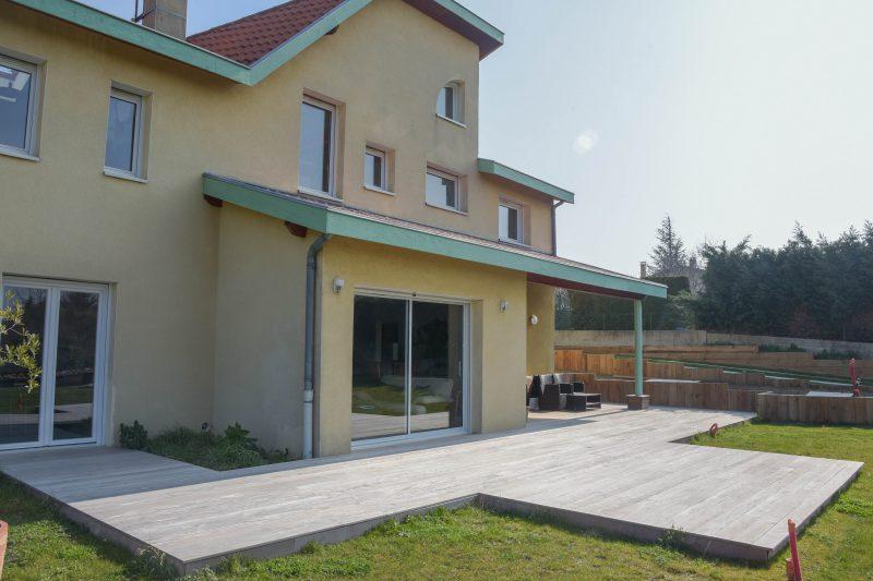 ouest de Lyon amménagement extérieur de maison individuelle