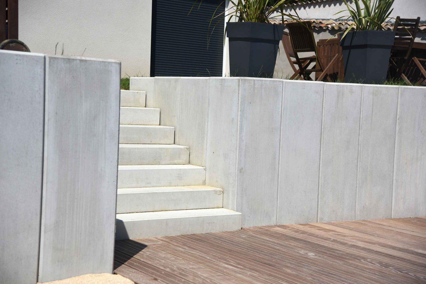 escalier pour terrasse/jardin